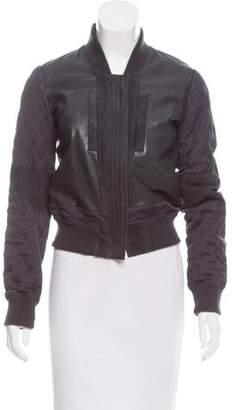 AllSaints Leather Paneled Jacket