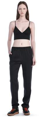Alexander Wang Stretch Silk Twill Trackpants