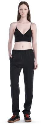 Alexander Wang Stretch Silk Twill Trackpants