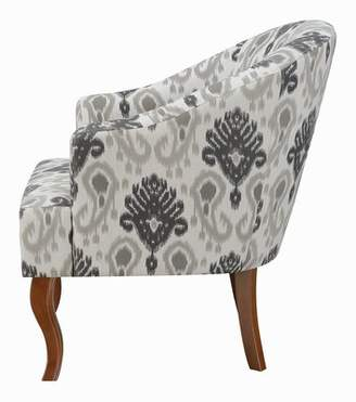 Canora Grey Upholstered Accent Chair With Pattern Grey Canora Grey