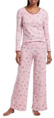 Hue Cozy Cocktail Knit Two-Piece Pyjama Set