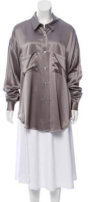 Ji Oh Silk Perry Shirt w/ Tags