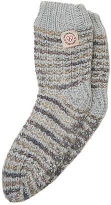 Dearfoams Flurry Spacedye Sock Womens Bootie Slippers