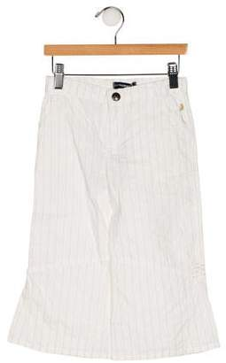 Jean Bourget Girls' Striped Wide-Leg Pants w/ Tags