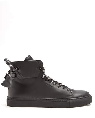 Buscemi 125mm Corda high-top leather trainers