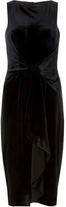 Dorothy Perkins Womens **Luxe Black Velour Frill Bodycon Dress