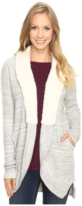 Mod-o-doc Space Dye Thermal Sherpa Collar Cardigan $120 thestylecure.com