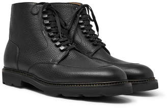 John Lobb Helston Pebble-Grain Leather Boots - Black