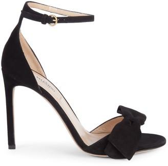 Valentino Garavani Bow Suede Ankle-Strap Sandals