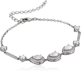 Nina Tamela Pear Shaped Haloed Bracelet