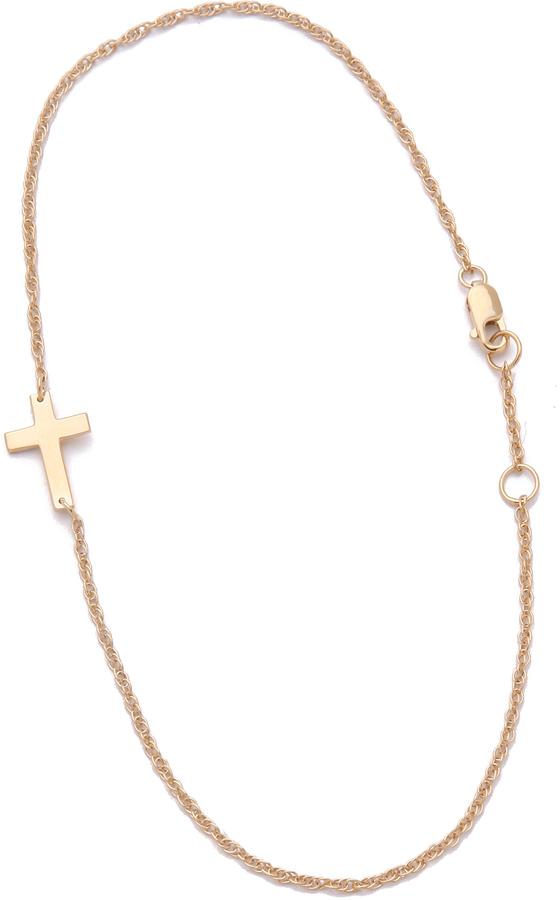 Jennifer Zeuner Jewelry Cross Anklet
