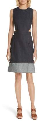 Derek Lam 10 Crosby Back Cutout Denim Dress