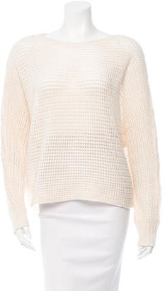 Inhabit Cashmere Open Knit Sweater w/ Tags $145 thestylecure.com
