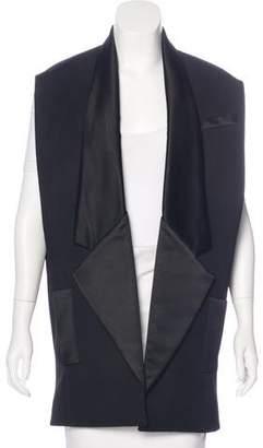 Balmain Wool Satin-Trimmed Vest