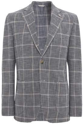 Silk Blend Houndstooth Check Jacket