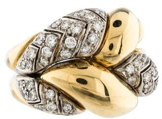 Ring 18K Two-Tone Diamond Twist