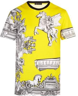 Versace Baroque Print Pegasus T Shirt - Mens - Yellow Multi