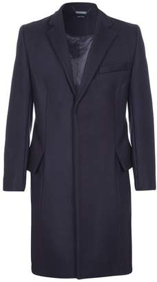 Blend of America He & DeFeber - Dark Navy Virgin Wool Classic Tailored Overcoat