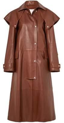 Calvin Klein Cape-effect Leather Coat