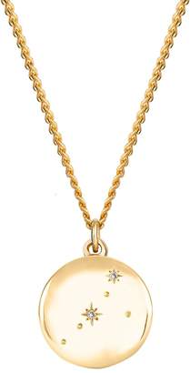 No 13 - Cancer Zodiac Constellation Necklace Yellow Gold & Diamonds