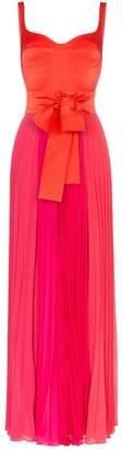 Silvia Tcherassi Clavelina bustier pleat skirt silk blend maxi dress