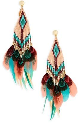 Women's Gas Bijoux Huichol Plume Earrings $320 thestylecure.com