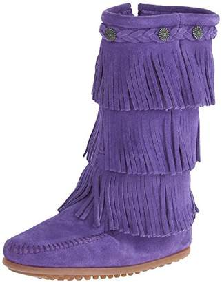 Minnetonka 3-Layer Fringe, Unisex Kids Mocassins Boots,12 Child UK (30/31 EU)