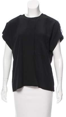Ellen Tracy Short Sleeve Silk Blouse