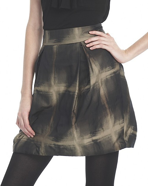 L.A.M.B. Bubble Plaid Taffeta Skirt