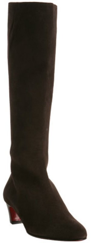 Christian Louboutin dark brown suede 'Bourge' tall boots