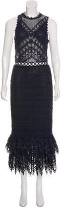 Jonathan Simkhai Lace & Mesh Maxi Dress Black Lace & Mesh Maxi Dress