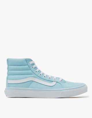 Sk8-Hi Slim in Crystal Blue/White $60 thestylecure.com