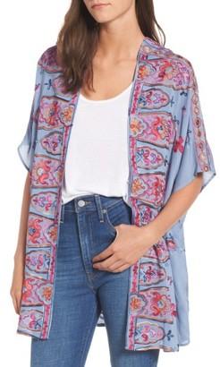 Women's Socialite Embroidered Kimono $49 thestylecure.com