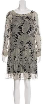 Gryphon Long Sleeve Silk Dress