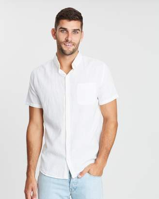 Cotton On Premium Linen Cotton Short Sleeve Shirt