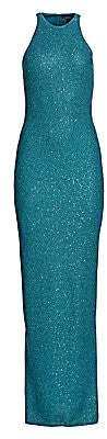 St. John Women's Sleeveless Sequin Halterneck Gown
