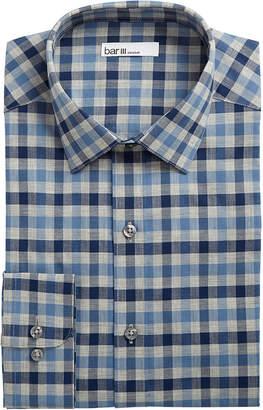Bar III Men's Slim-Fit Stretch Bold Heather Gingham Dress Shirt