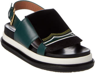 Marni Fussbett Embroidered Leather Sandal
