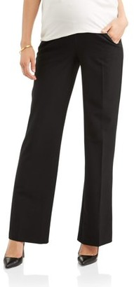 Oh! Mamma Maternity Full-Panel Wide Leg Career Pants -- Available in Plus Sizes