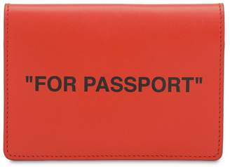 """Off-White Off White QUOTE LEATHER """"PASSPORT"""" HOLDER"""