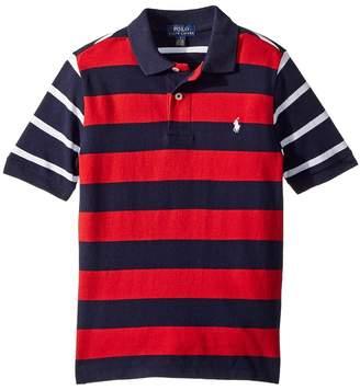 Polo Ralph Lauren Striped Cotton Mesh Polo Shirt Boy's Short Sleeve Pullover
