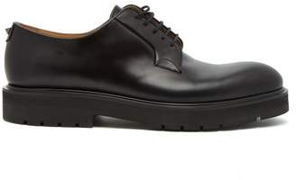 Valentino Rockstud Leather Derby Shoes - Mens - Black