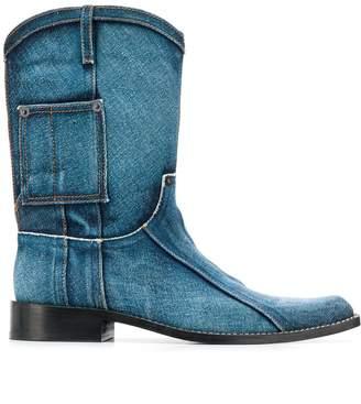Martine Rose denim cowboy boots