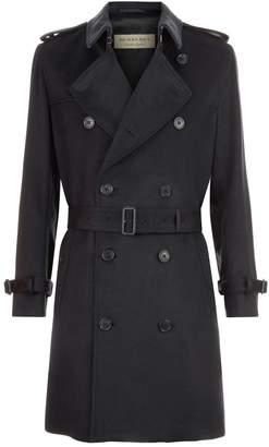 Burberry Kensington Cashmere Trench Coat