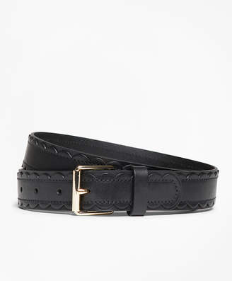 Brooks Brothers Scalloped Leather Belt
