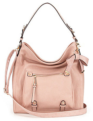 Jessica Simpson Tatiana Faux Leather Bow Hobo Bag $98 thestylecure.com