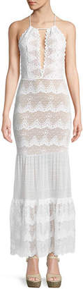Nightcap Clothing Belle Nuit Halter Gown in Lace