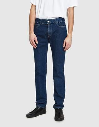 Maison Margiela Stonewash Slim Fit Jeans in Middle Tone Indigo