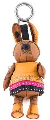 MCM Fur-Trimmed Rabbit Bag Charm