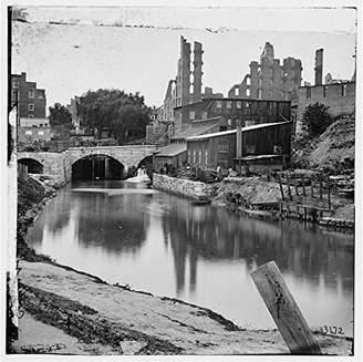 Richmond Infinite Photographs Photo: American Civil War, Richmond, Virginia, VA, James River, Kanawha Canal, Gallego Mills Size: